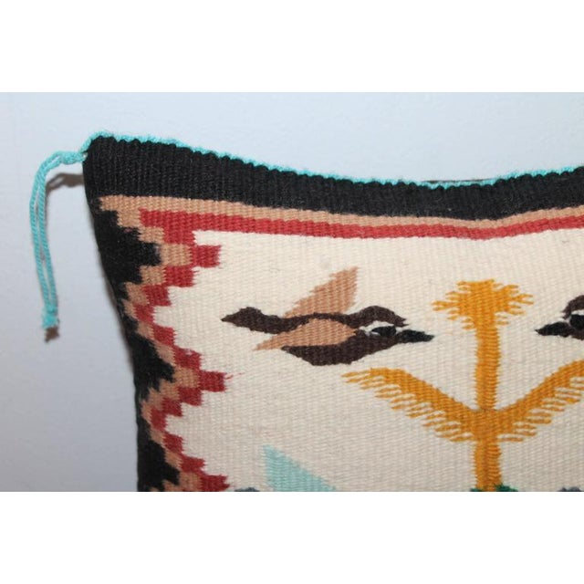 Navajo Navajo Weaving Tree of Life Pillow For Sale - Image 3 of 5