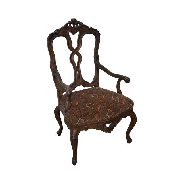 Rococo Style Carved Arm Chair - Image 2 of 11