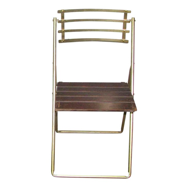 Mid-Century Modern Folding Chair For Sale