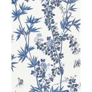 Sample, Scalamandre Jardin De Chine, Porcelain Fabric For Sale