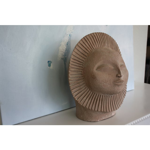 1968 Paul Bellardo Sun Face Sculpture - Image 3 of 7