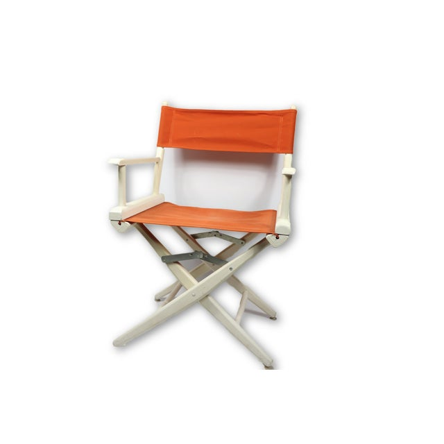 1960s Vintage Telescope Foldable Folding Directors Patio Chair For Sale - Image 10 of 10
