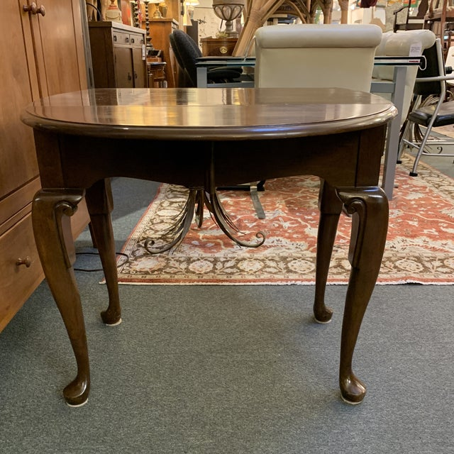 Queen Anne Style Dropleaf + Drawer Side Table For Sale - Image 9 of 11