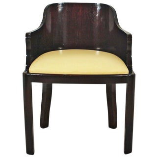 1930´s Art Deco Desk Chair in Solid Oak, leather - Belgium For Sale