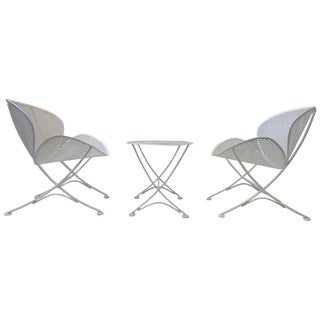 Outdoor Lounge Chairs and Table Set by Maurizio Tempestini for Salterini