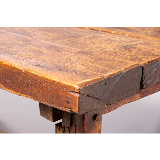 Brown Early 19th Century Rustic Table For Sale - Image 8 of 13