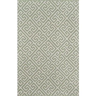 """Madcap Cottage Palm Beach Brazilian Avenue Green Indoor/Outdoor Area Rug 5' X 7'6"""" For Sale"""
