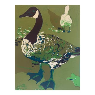 Mid-Century Duck Serigraph For Sale