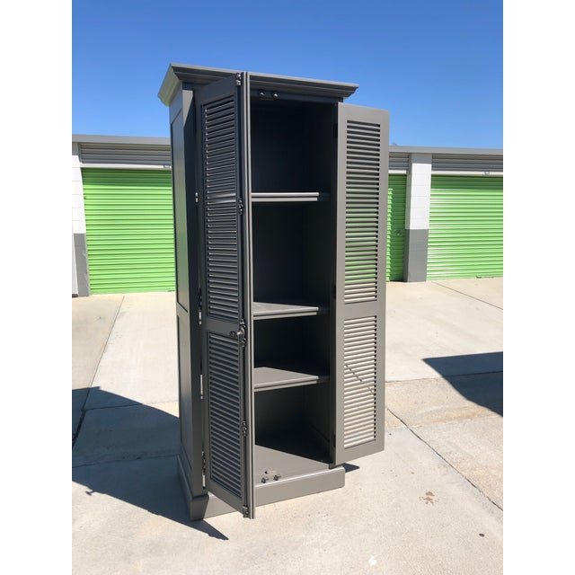 Resoration Hardware French Casement Cabinet. Perfect condition. Grey.