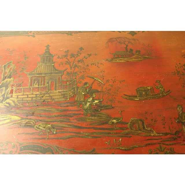 1980s Chinoiserie Painted Chest For Sale - Image 4 of 7