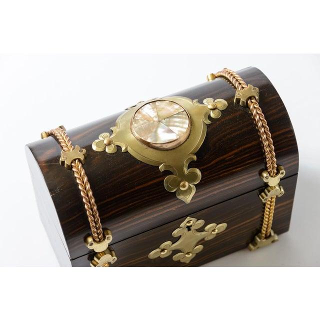 English Traditional Coromandel Wood Box For Sale - Image 3 of 8