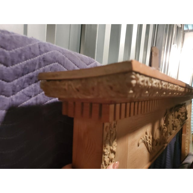 Antique English Carved Pine Mantel For Sale In Jacksonville, FL - Image 6 of 7