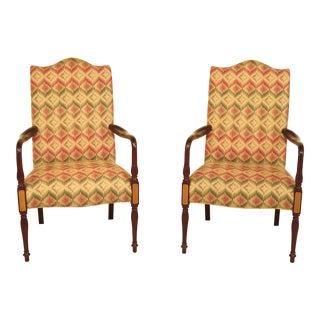 Hancock & Moore Sheraton Mahogany Lolling Chairs - A Pair