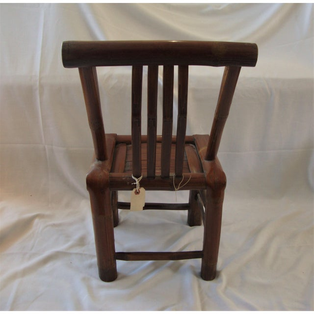 Primitive Bamboo Chairs- A Pair - Image 8 of 8