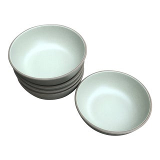 Heath Ceramics Coupe Cereal Bowl Sage Set of 5 For Sale
