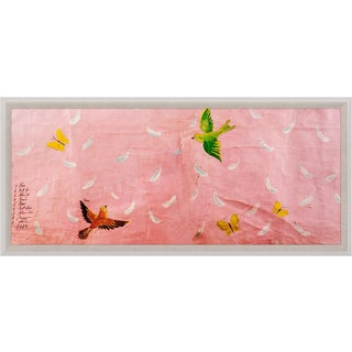 Paule Marrot, Feathers, Large, Framed Artwork For Sale