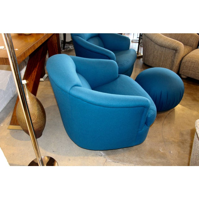 Directional Chairs With Ottoman From Directional- 3 Pieces For Sale - Image 4 of 10
