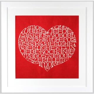 International Heart Framed Textile Art by Alexander Girard
