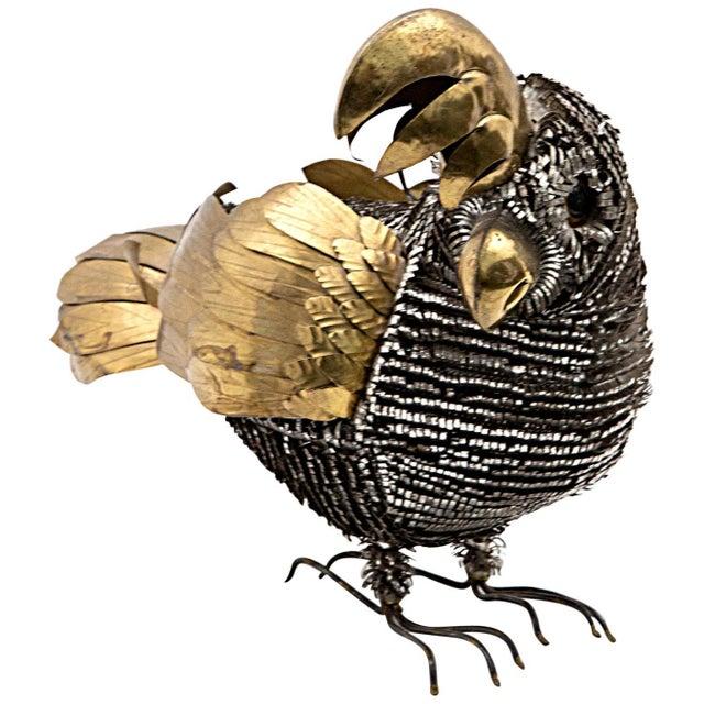 Mid 20th Century Bustamente Metal Cockatoo For Sale - Image 5 of 5