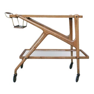Two-Tiered Rolling Bar Cart