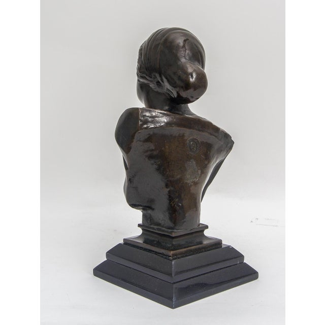 Edwardian Grand Tour Bust of Venus Classical Bronze Museum Sculpture For Sale - Image 3 of 6