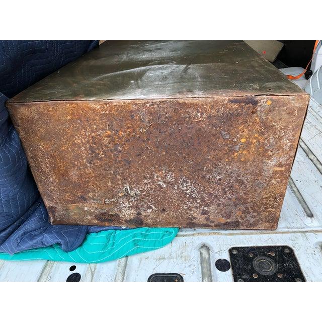 Vintage Industrial Green Steel Filing Cabinet For Sale - Image 12 of 13