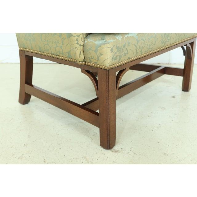 Kittinger Chippendale Mahogany Wing Back Chair For Sale In Philadelphia - Image 6 of 13