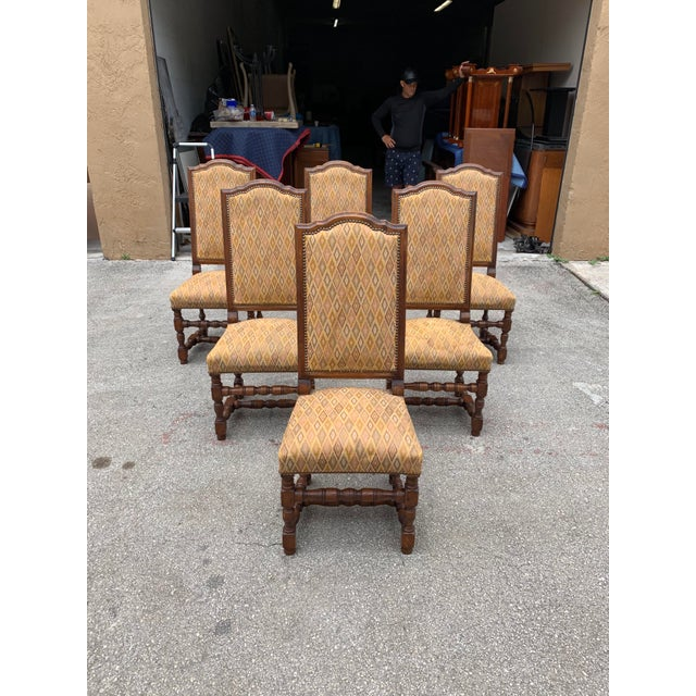 1900s French Louis XIII Style Solid Walnut Dining Chairs - Set of 6 For Sale - Image 13 of 13