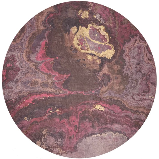 """Abstract Nicolette Mayer Agate Roccocco 16"""" Round Pebble Placemats, Set of 4 For Sale - Image 3 of 3"""
