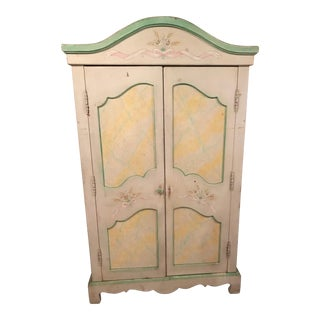 ABC Carpet Shabby Chic Aux Marble Armoire Cabinet For Sale