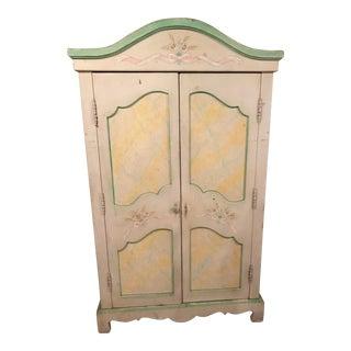 ABC Carpet Shabby Chic Aux Marble Armoire Cabinet For Sale