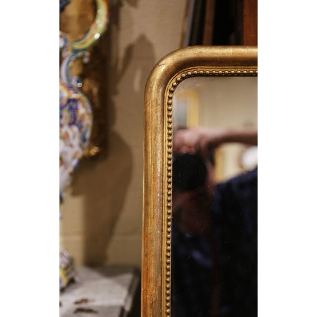 Mid-19th Century French Louis Philippe Giltwood Mirror With Mercury Glass For Sale - Image 4 of 11