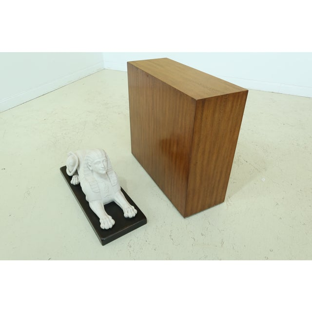 Brown Theodore Alexander Sphinx Statue on Wood Base & Pedestal For Sale - Image 8 of 11