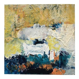 """Contemporary Abstract Acrylic Painting """"Box Study 3"""" by Mary Lou Siefker For Sale"""