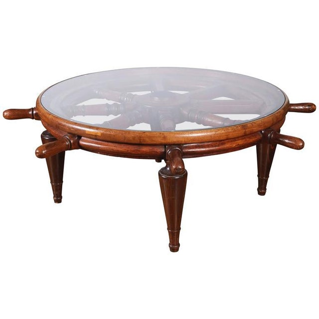 Antique Ship's Wheel Coffee Table For Sale In Philadelphia - Image 6 of 6