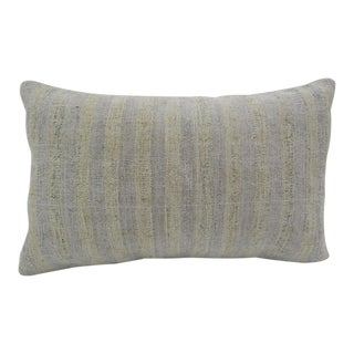 Vintage Handmade Natural Turkish Kilim Pillow Cover For Sale