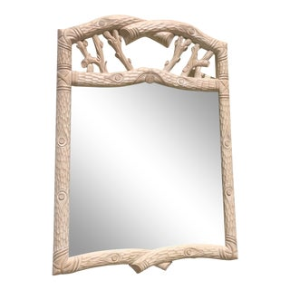 Vintage Faux Bois Mirror For Sale