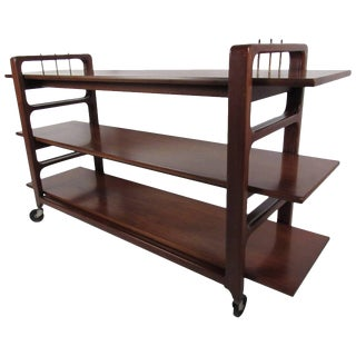 Midcentury Serving Cart by Baker Furniture Company For Sale