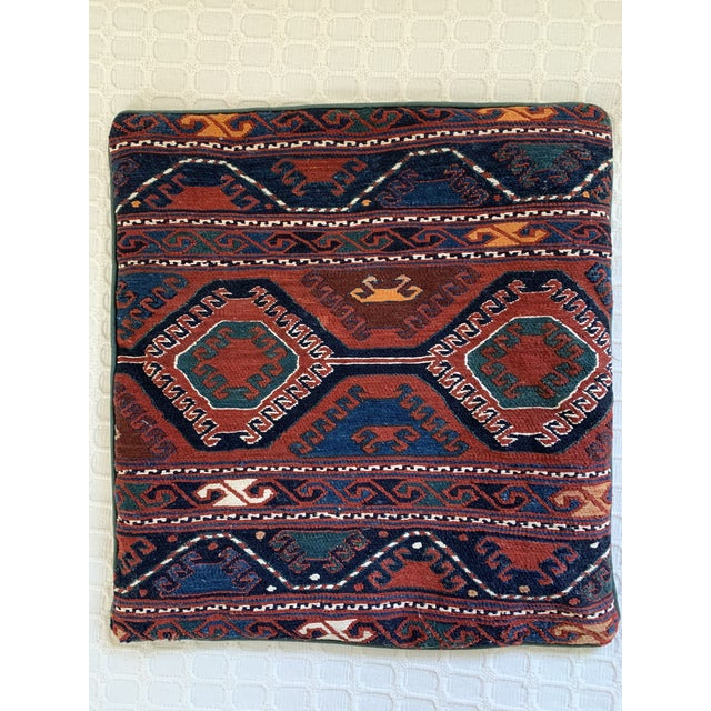Mid 20th Century Turkish Handwoven Kilim Pillow Cover For Sale - Image 5 of 5