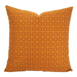 "Hella Jongerius for Maharam Repeat Dot Ring in Sienna Pillow Cover - 18.5"" X 18.5"" Rust Circle Ring Pattern Cushion Case For Sale"