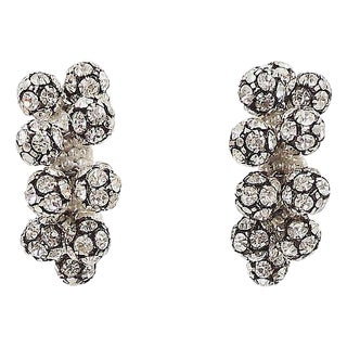 1960s Rhinestone & Faux-Pearl Earrings For Sale