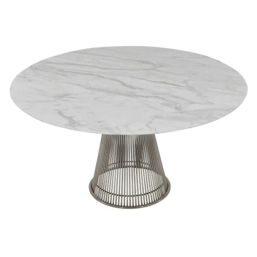 Eames Mid Century Modern William Platner 70's Marble Top Table For Sale - Image 4 of 4
