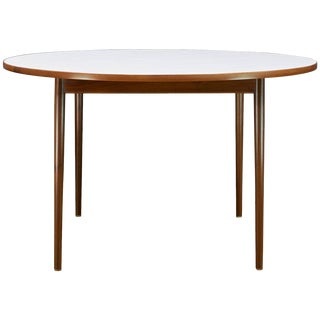 1950s Milo Baughman Thayer Coggin Pencil Leg Walnut Foyere Entryway Table For Sale