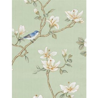 Casa Cosima Delphine Green Wallpaper Mural - Sample For Sale