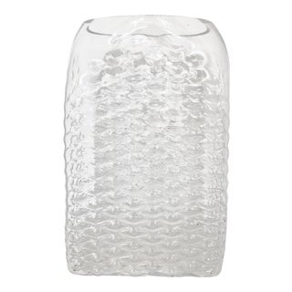 Tall Vintage Clear Glass Vase For Sale
