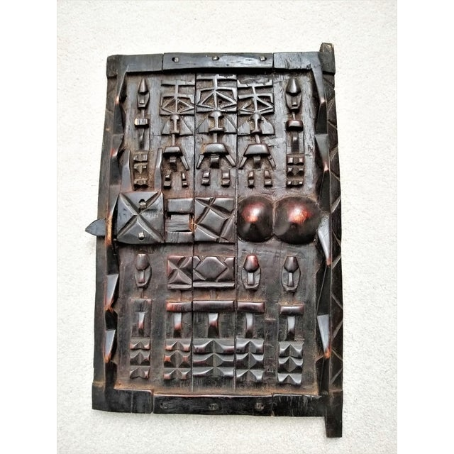 Early 20th Century African Carved Granary Door From Africa - Mali For Sale - Image 11 of 11