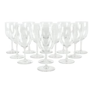 Vintage Baccarat Crystal Wine Water Glassware - Set of 12 For Sale
