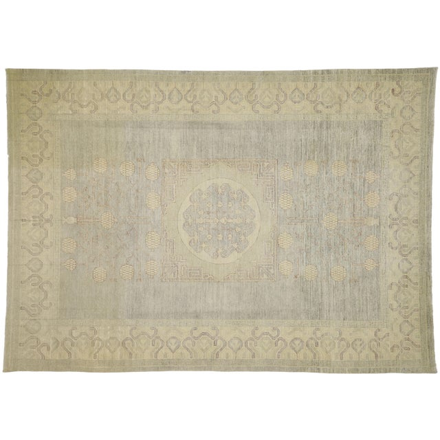Transitional Khotan Style Area Rug - 8'9 X 12'2 For Sale