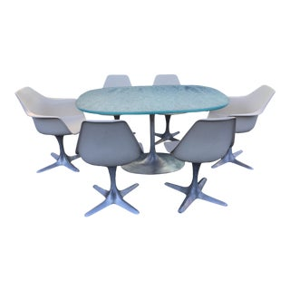 1960s Danish Modern Tulip Dining Set - 7 Pieces For Sale