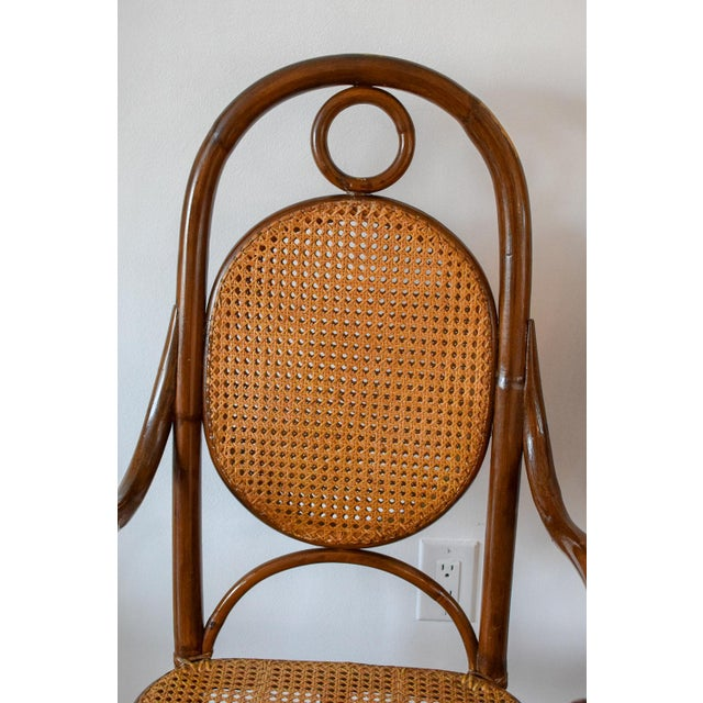 1970s 1970s Vintage Thonet Bentwood Cane Chairs- A Pair For Sale - Image 5 of 11